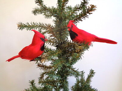 Perched Red Cardinal Christmas Ornament 6.5 inch per Three (3 - Cardinal Ornament