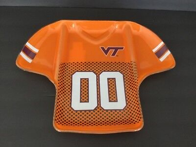 Virginia Tech Glass Serving Tray Plate VT Hokies Appetizer Tailgate - Football Serving Tray