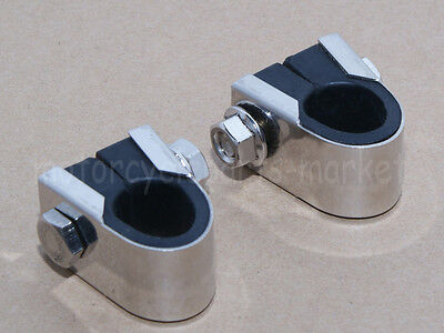 Pair Chrome Mini Tach Tachometer Speedo SPEEDOMETER 7/8