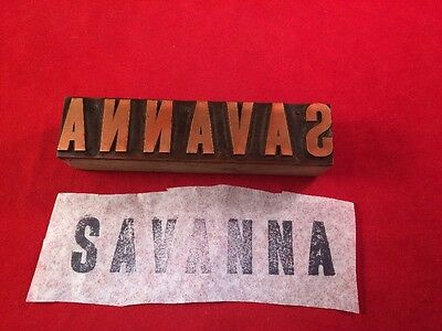 Vintage Letterpress Printing Block - Savanna Copper Graphic