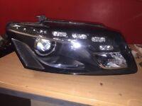 Audi Q5 09 To 2012 D/s DRL Xenon headlight Genuine Inc Bulbs & Packs Breaking