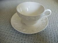 WEDGWOOD china QUEENSWARE cream on cream SHELL