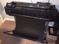 "HP Designjet T520 36 Inch; A0 Plotter CQ893A Wide Format CAD Printer 36"" Width"