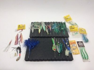 Huge Lot of Salmon Fly Horse Fly Fishing Bait Trolling Squid Bait Tackle Amish