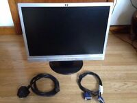 HP w19 widescreen monitor. In perfect condition