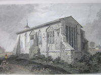 Antique Print - The Remains Of Dunmow Priory, Essex, 1832
