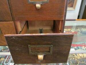 Early Oak Macey 6 drawer Filing Cabinet 1920's London Ontario image 2