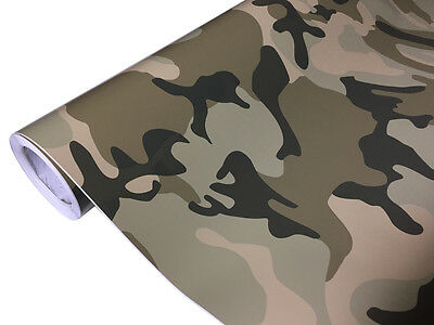Camouflage Folie 50cm x 152cm Luftkanäle Car Wrap Autofolie #1