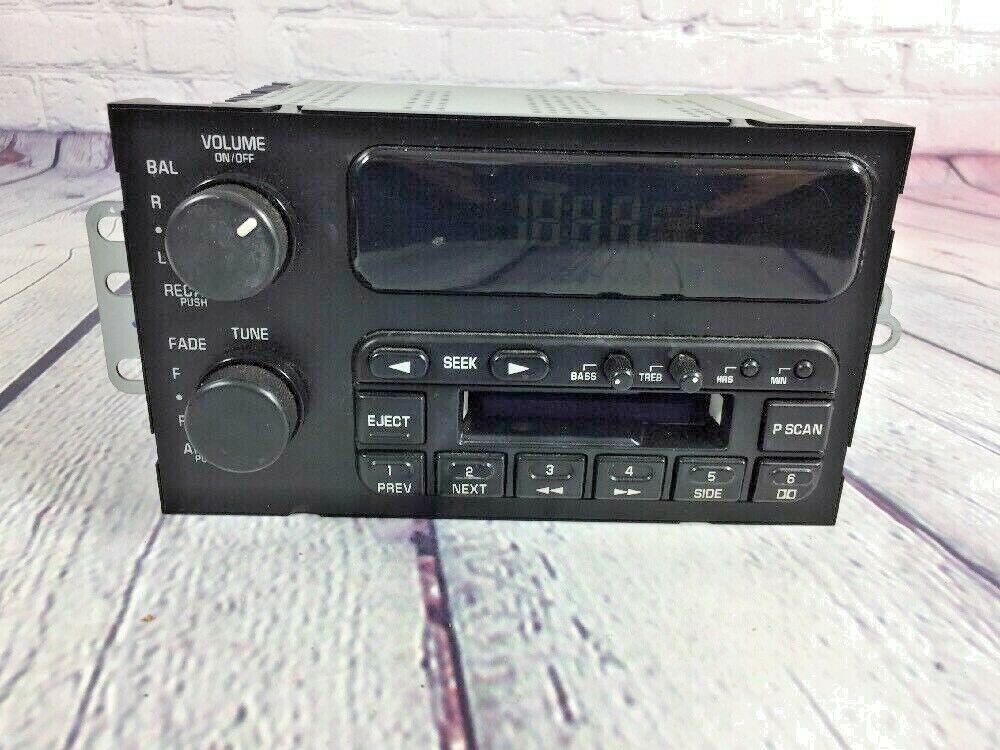 Delco Electronics AM FM Cassette Car Radio # 16201164 - Untested See Description