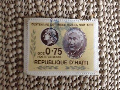 Centenaire Du Timbre Haitien 1881-1981 Republique D'Haiti 0.75 Stamp Free Shippi