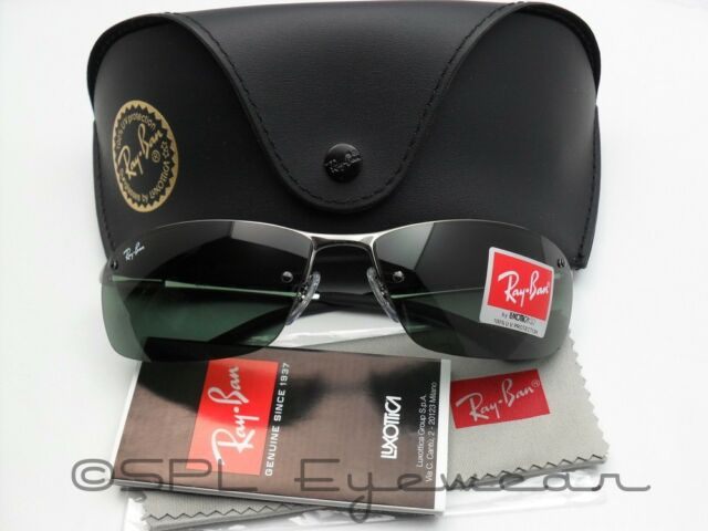 ray ban rb3183 7vnt  Ray Ban Active RB 3183 004/71 Gunmetal Frame + Green Lens 100% Authentic