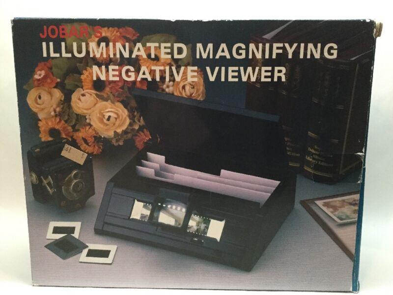 Jobars Illuminated Magnifying Slide Negative Viewer New Unused