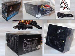 PC Netzteil ATX 550 W Watt 14cm Lüfter 20/24 P4 3x SATA 3x IDE P6 PCIe s. Leise
