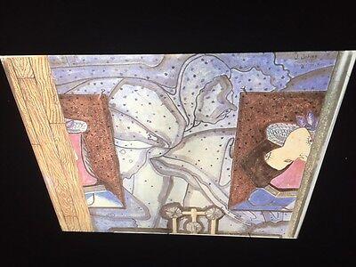"""Jasper Johns """"The Bath"""" 35mm Color Slide. Pop Art Neo-dadaist"""