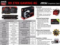 AMD R9 270X Gaming 4gig Graphics Card