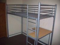 High Sleeper single bed for sale