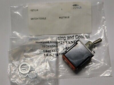 Mil-spec Honeywell Ms27785-26 102tl2-8 Dpdt Iwts16-20awg Toggle Switch