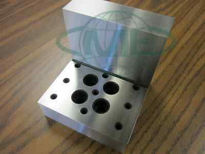 Angle Plate 4x4x4x1-14 Precision Ground W. Tapped Holes 0.0002 Tolerance-new