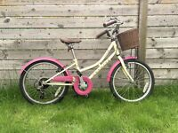 Dawes Lil Duchess 20 Inch Kids' Bike, retro cream and pink