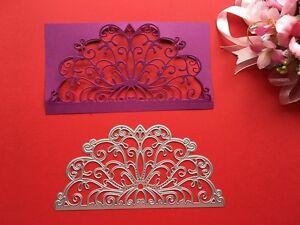 Metal Die Cutter Handmade Invitations Die Lace Border Envelope Cuttings DC1471