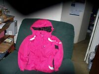 Girl's  jacket, insulated with hood, extra pockets,Tights