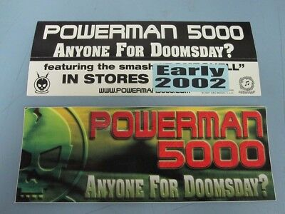 Powerman 5000 2002 Doomsday promotional sticker New Old Stock Flawless Condition