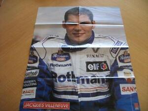 """Poster 25 1/2"""" x 21"""" de Jacques Villeneuve (Y160)"""