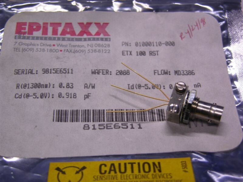 1 Epitaxx ETX100RST High Speed InGaAs Photodector Module For ST Connector