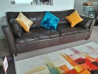 REDUCED AGAIN! Top quality leather 4-seater sofa