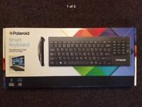 e83891de6ab Polaroid Smart Wireless Keyboard Builtin Mouse Pad PC Computer Laptop TV  Desktop. Condition is New