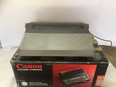 Canon Electronic Typewriter S-68s Great Used Condition In Original Box