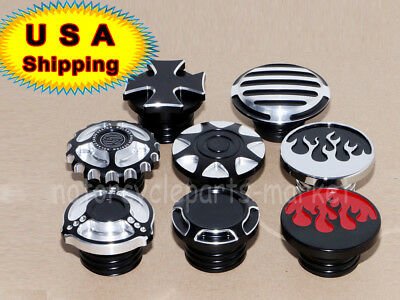 Motorcycle Fuel Tank Gas Cap Cover For Harley Sportster Dyna Touring 96 17 Usa
