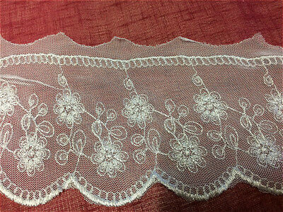 (White 5 inch Lace Ribbon Wedding Trim Bridal Lace - 1m - 3mts - 5mts - 05744023)