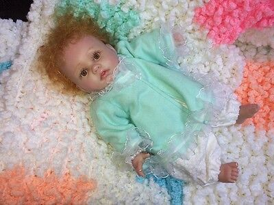 "Darling Berenguer Baby Doll 12"" Redhead Signed & Painted - Unusual"