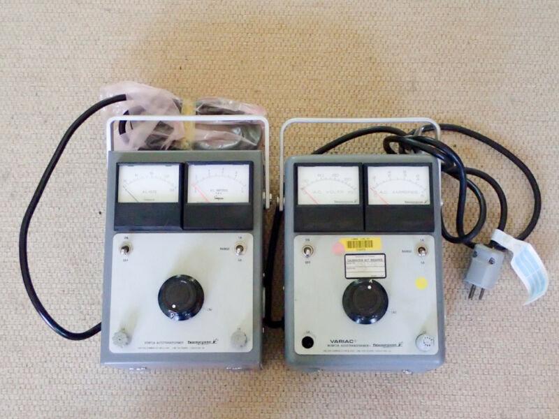 VARIAC TECHNIPOWER TYPE WM5MT3A Autotransformers X 2 120V