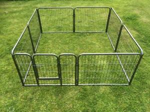 61cmH heavy duty Pet Dog steel Playpen Cage fence Enclosure 18kg