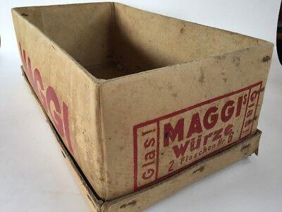 Maggi Pappschachtel Karton 2 Flaschen Nr. 6 ohne Inhalt und Deckel 30er Jahre