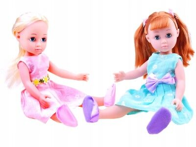 Puppe mit lange Haaren Spielpuppe klassische Frühlingskleid Schönheit 35 cm NEU (Puppe Mit Haar)