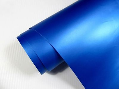 7,8€/m² Auto Folie BLAU METALLIC MATT 100 x 152 cm  3D Klebefolie Car Wrapping