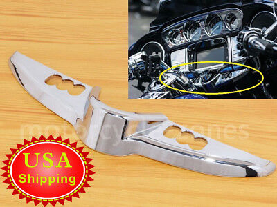 Chrome Ignition Switch Panel Accent Trim For Harley 14-17 Touring Street Glide