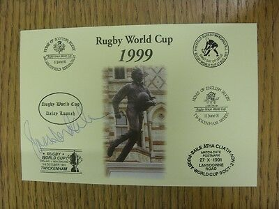 1999 Rugby World Cup Postcard: Hand Signed By Nesdale, Ross [World Cup 'Relay La
