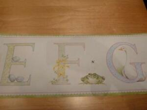 Baby Room Alphabet Wall Paper Pre-Pasted Boarder