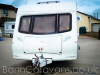 (Ref: 842) Swift Courier 6 Berth Fixed Bunk ~ Free Awning