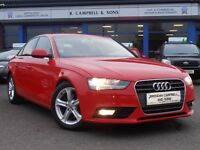2012 Audi A4 SE TDI 134BHP 6 Speed 4 Door Saloon In Red