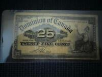 1900 25 Cent Shin Plaster Bank Note