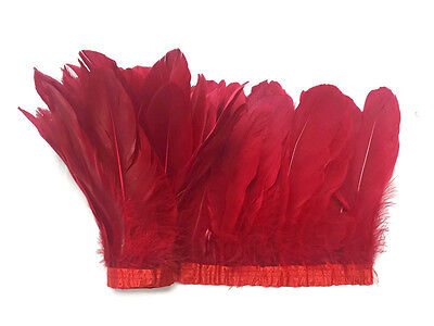 1 Yard - Red Goose Pallet Parried Feather Trim Nagoire Satinettes Craft Supply