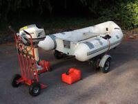 Boat for sale 3M Avon RIB + Honda 5 HP O/B + trailers