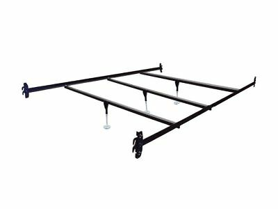 Bed Rails Queen Bed - Queen Size Hook on Bed Frame Rails with 3 Cross Beams with Legs
