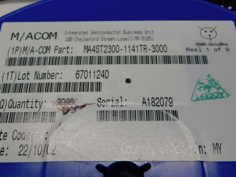 5 MACOM MA4ST2300-1141T Ultra High Ratio Si Hyperabrupt Varacter Diodes SOD-223