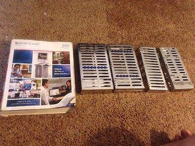 Hu Friedy Lot Of 3 Cassettes And Bonus Cassette Dental Instruments